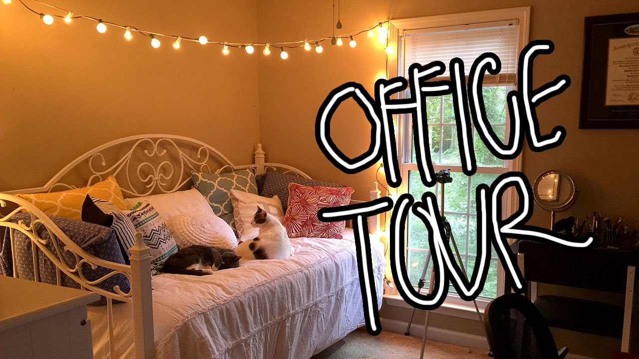 COZY NEW OFFICE ROOM TOUR - YouTube
