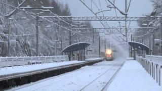 ALLEGRO проход скоростного поезда в сказке зимней 190 Км-ч Платформа Репино АЛЛЕГРО RZD/РЖД