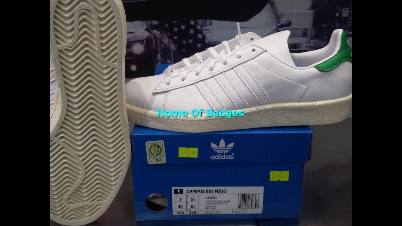 pretty nice 3c9dd 4eff6 20150225 Adidas Originals 2015 Q1 Mens Campus 80s Nigo Fashion Sneakers  B33821