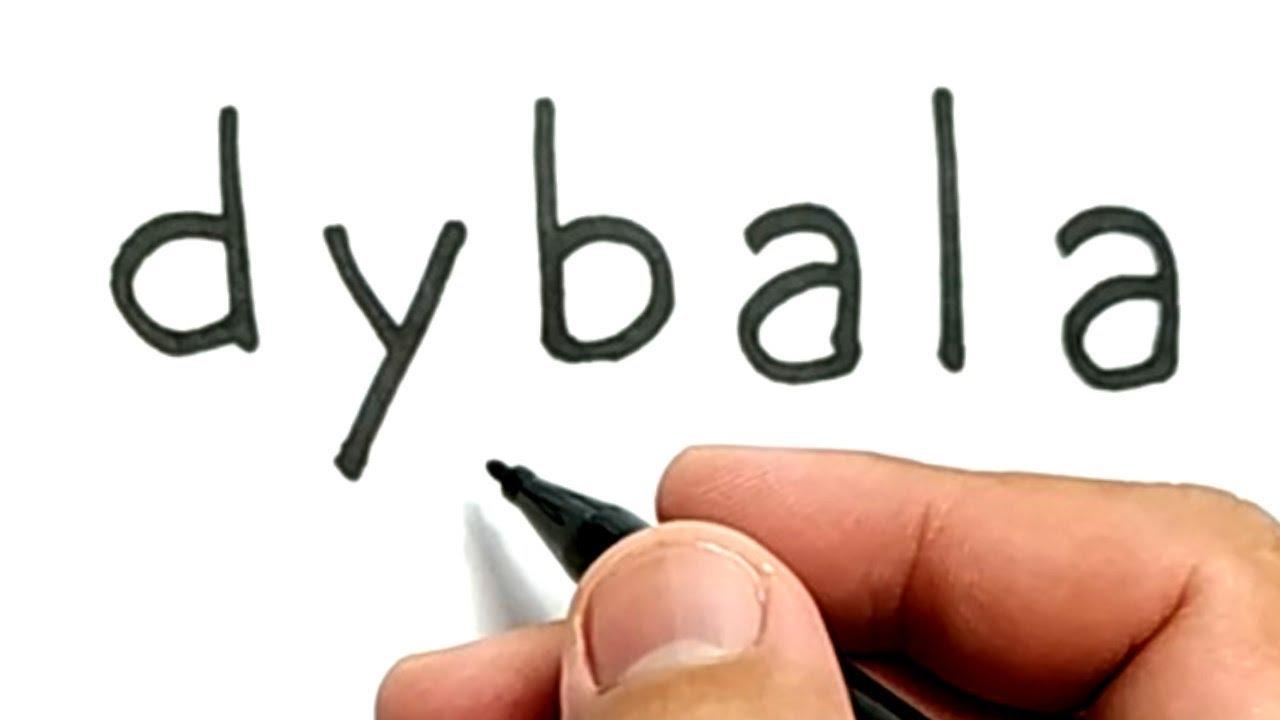 Wow Belajar Cara Menggambar Kata Dybala Menjadi Paul Dybala Pemain