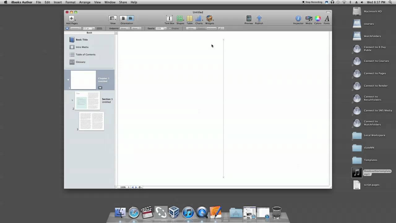 iBook Author Tutorial - How to Start iBook Author with a Template ...