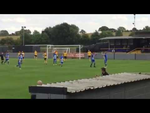 Corby town Go one nil up against Loughborough dynamo 23/09/17 part 1
