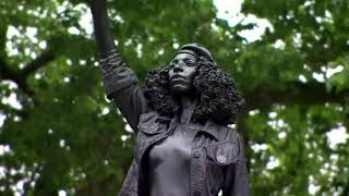 Statue of BLM protester removed after one day