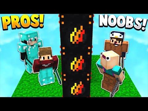 NOOBS vs PROS! | PRESTONPLAYZ LUCKY BLOCK WALLS!
