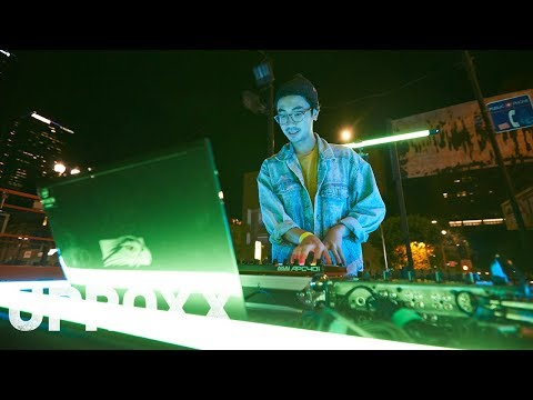 A DJ, Animators and Projection Mappers Scare Downtown LA