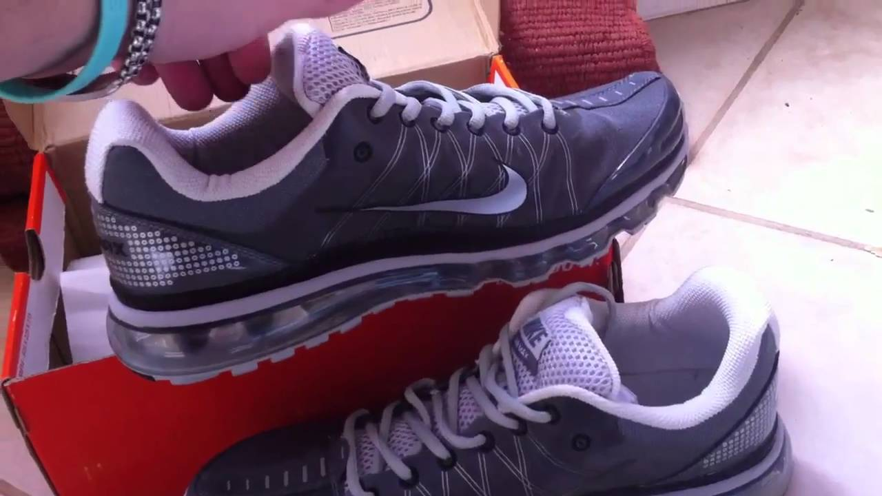 check out db033 33065 Nike Air Max Plus 2009 Running Shoes Gray Silver - YouTube