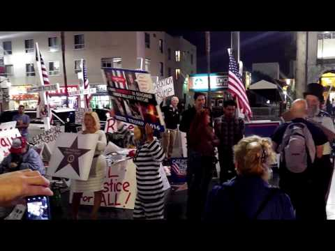 Rally for Trump in Los Angeles (11.07.2016) Hollywood Boulevard