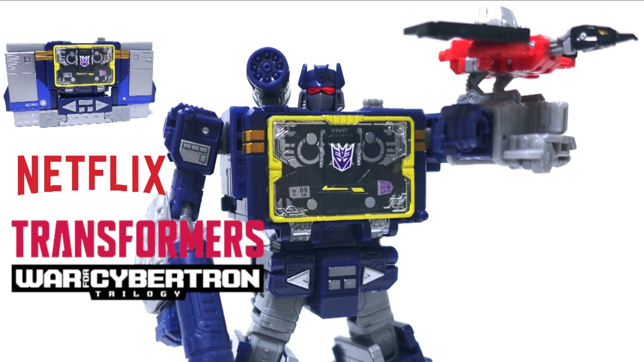 Netflix Transformers Soundwave 3-Pack Review by wotafa