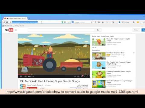 how to convert audio to google music mp3 320kbps