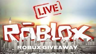🔴Free Robux Giveaway - Live and Easy - Roblox Live Stream