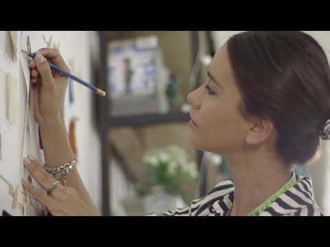 Fashion Designer Working On Sketches Stock Video