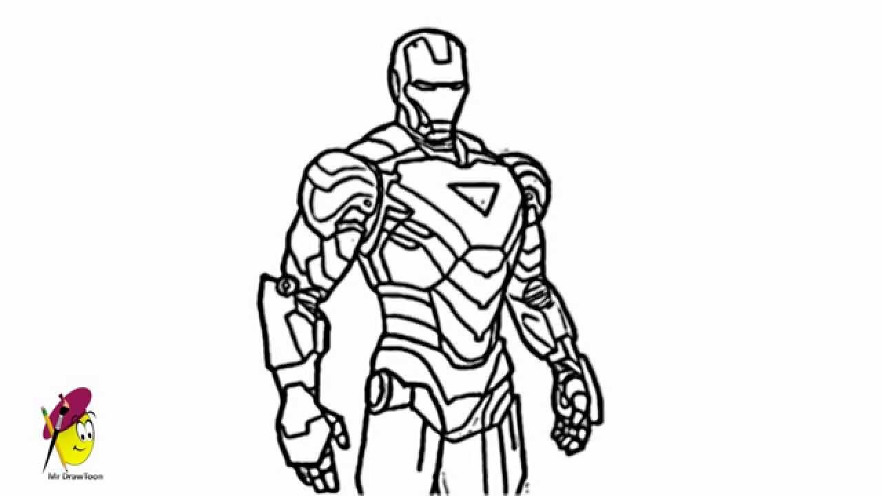 ironman cool and awesome how to draw ironman from avengers youtube