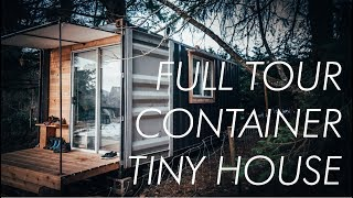 FULL TOUR // Container Tiny House with Elevator Bed