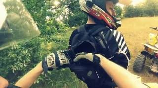 Skoki Drifting Wypadki quadami w Slow Motion : Suzuki LTZ-400 : quad jumps atv crash fail riding