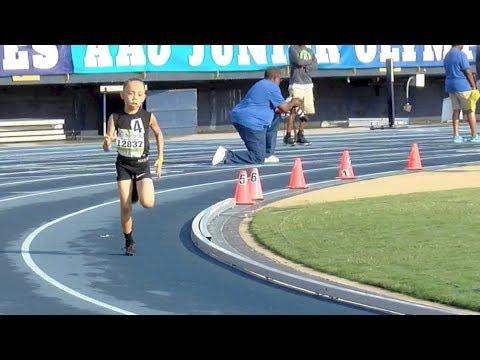 8-Year-Old Runs National 1500m Record At AAU!