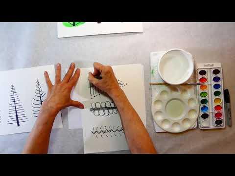 #4 Art For Kids Sept. 2020 Folk Art Trees-lesson 4