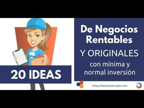 20 ideas de negocios rentables y originales con mínima o normal inversión