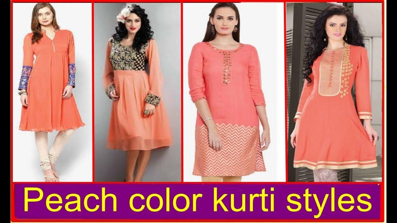 f00aa02160 Latest peach color kurti styles - Trending kurta tops 2018 | Our Glamour
