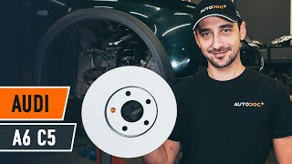 Kā nomainīt Bremžu diski AUDI A6 Avant (4B5, C5) - tiešsaistes bezmaksas video