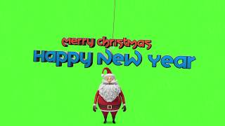 Funny Happy New Year 2019 🎅 Santa Claus Mistake Free HD Green Screen
