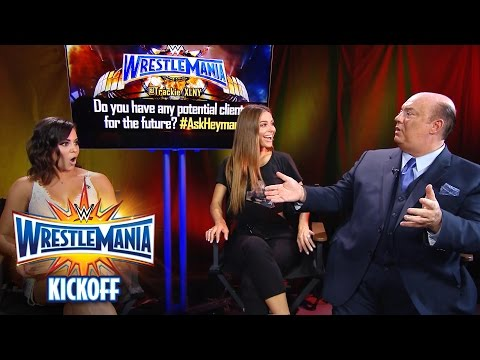 Paul Heyman responds to fan questions in the WWE Social Media Lounge: WrestleMania 33 Kickoff