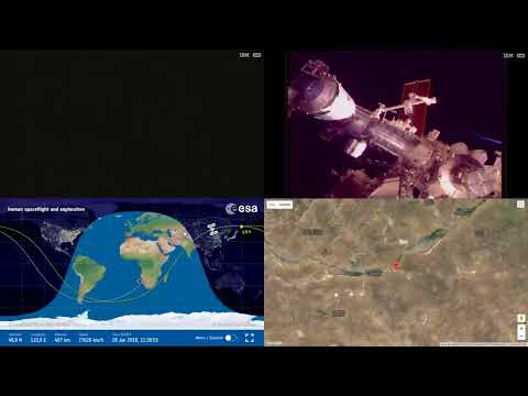 Orbital Sunset Over Asia - ISS Space Station Earth View LIVE NASA/ESA Cameras And Map - 47
