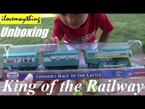 Unboxing Connor's Race to the Castle  Thomas Trackmaster Motorized Engine