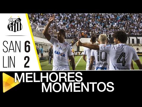 Santos 6 x 2 Linense | MELHORES MOMENTOS | Paulistão (03/02/17)