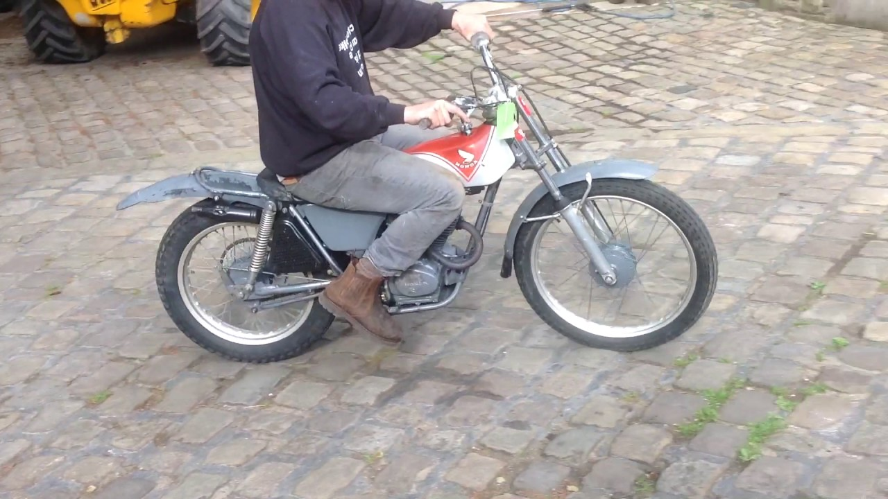 honda tl125 classic 1974 twinshock trials bike for sale on. Black Bedroom Furniture Sets. Home Design Ideas