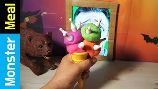 EATING a BOWLING ICE CREAM!! | Monster Meal ASMR Sounds | Kluna Tik Style Dinner No Talk