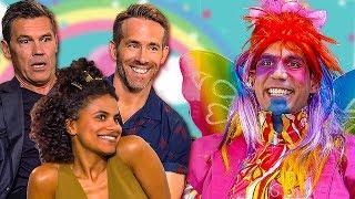 Download Video DEADPOOL 2 Cast vs. Unicorn Man | Ryan Reynolds, Josh Brolin, Zazie Beetz MP3 3GP MP4