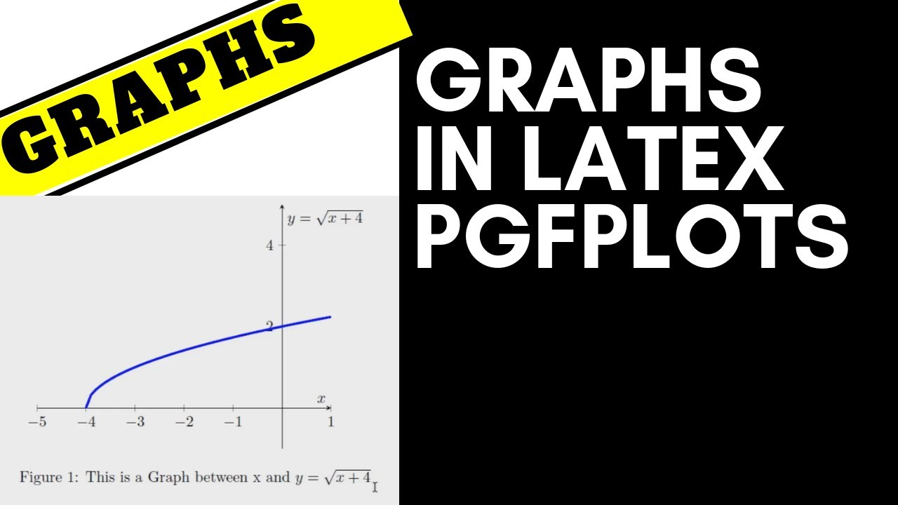 Graph [x, y] Display Settings in Latex pgfplots [Latex Tutorial]