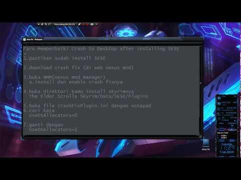 Cara Fix SKSE Crash To Desktop Setelah Diinstal
