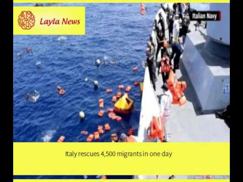 Italy rescues 4,500 migrants in one day |  By : CNN