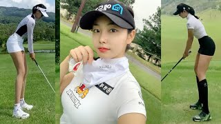 KLPGA 프로 숨이 멎을듯한 8등신 미모  골프스윙 …