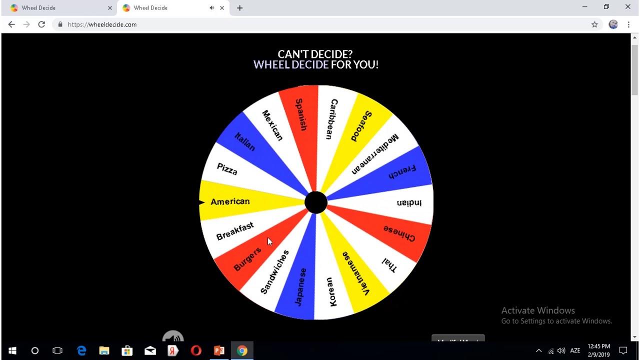 Wheel Decide Tutorial by Andie Worsley