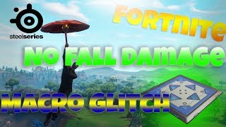 FORTNITE - NO FALL DAMAGE *GLITCH* MACRO HACK FOR STEELSERIES