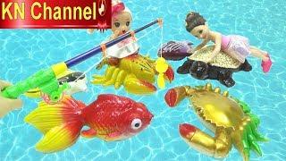 Đồ chơi trẻ em BÉ NA CÂU CÁ KHỔNG LỒ CÙNG VỚI BÚP BÊ BARBIE VUI NHỘN  KN Channel FISHING TOY