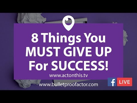 8 Things My SUCCESSFUL Actor Friends Have ALL Given Up On!