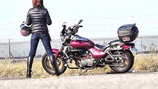 レディースバイカーkawasakiエリミネーター250v何歳になってもバイクは楽しい