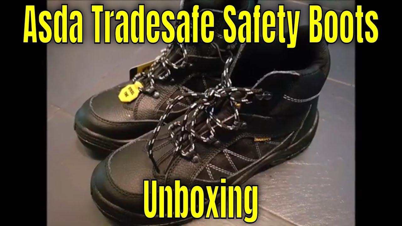 Asda - Tradesafe Black Steel Toe Cap
