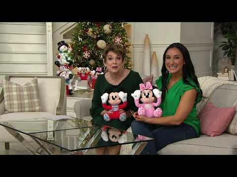 Peek-A-Boo Mickey Or Minnie Mouse Plush Doll On QVC
