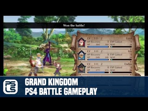 Grand Kingdom Gameplay PS4 Battle