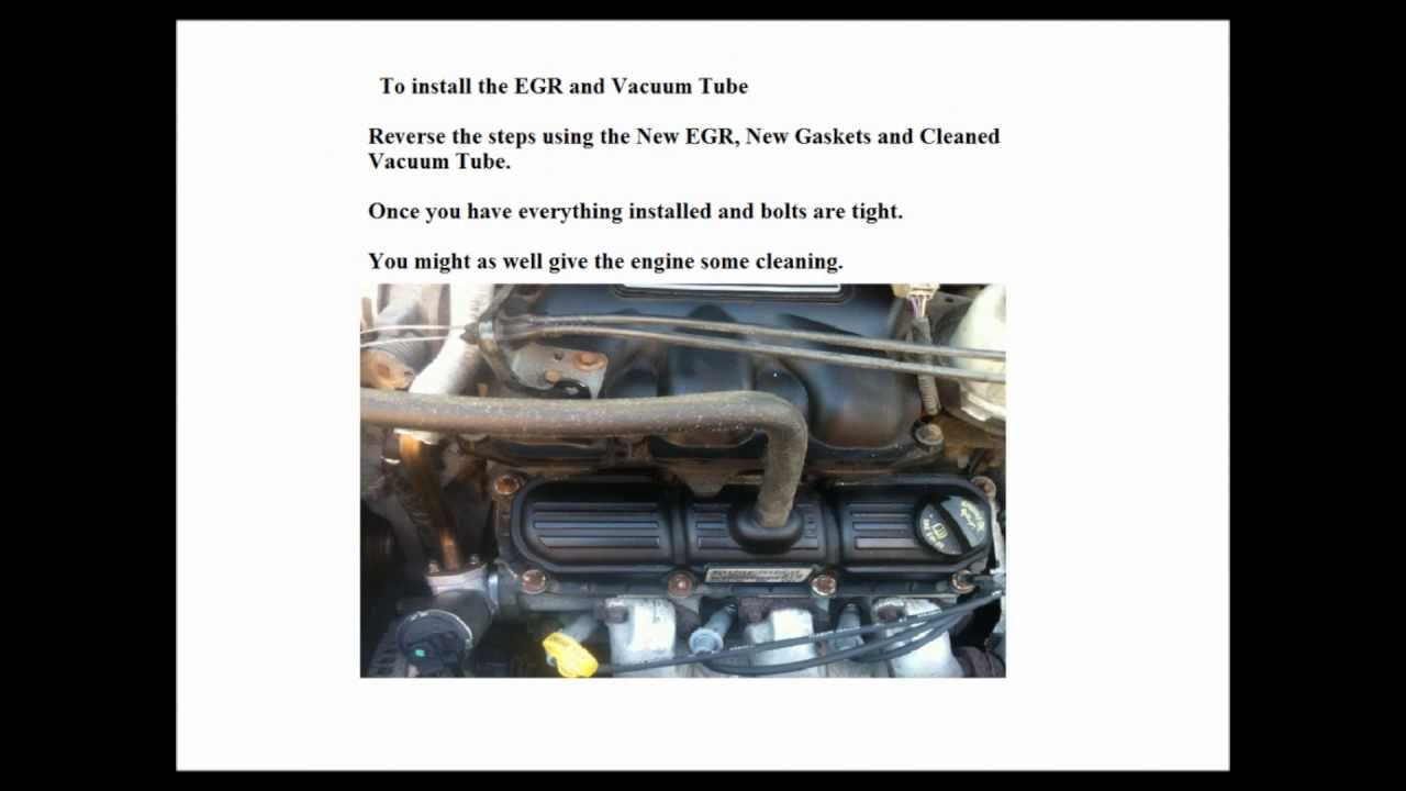 Dodge 2006 Caravan 3 8l Replace Egr Valve Youtube