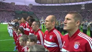 FC Bayern - Stuttgart DFB Pokalfinale Einlauf HD