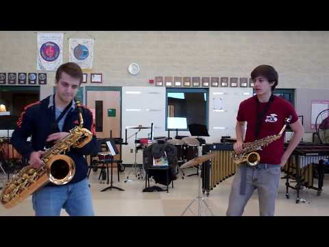 Radioactive | Alto and Bari Sax Cover (Plus Nick)