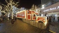 Coca-Cola Trucks auf der Coca-Cola Weihnachtstour 2019 in Berlin - 5.7K VR360