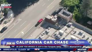 MUST WATCH: Ford Explorer Lead Police on Car Chase in San Fernando Valley - FNN