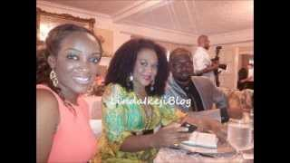 Stella Damasus  hubby Daniel Adenimokan attend Chets wedding