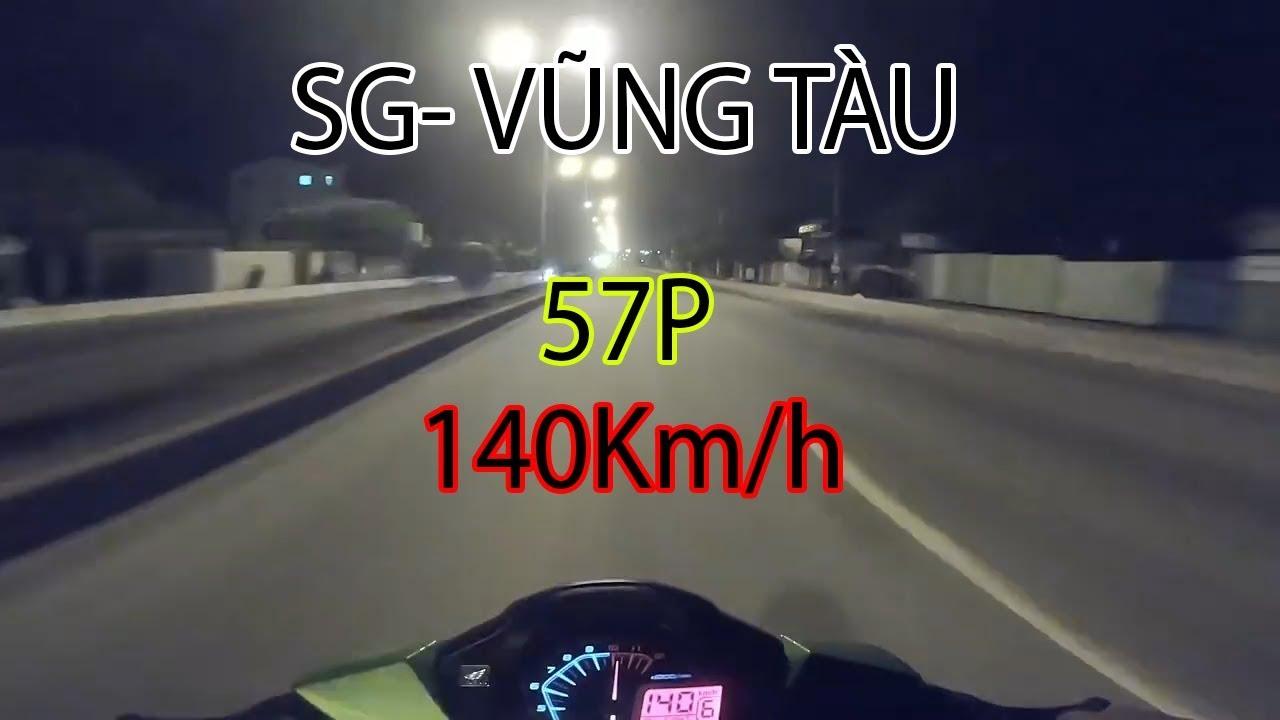 Winner 150 đi tour bạo lực Sài Gòn- vũng tàu 57 phút